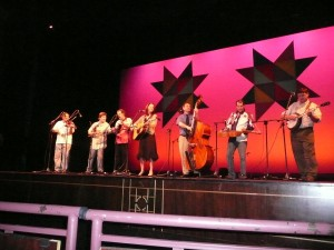 Paul's Creek and Sons of Ralph onstage at Diana Wortham Theatre